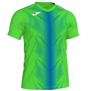 JOMA OLIMPIA T-SHIRT FLUOR GREEN-ROYAL S/S