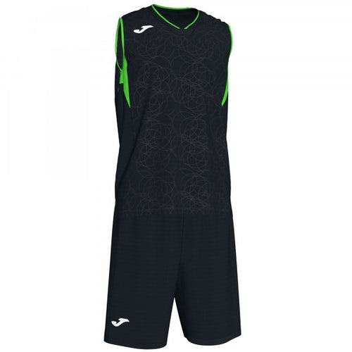 JOMA CAMPUS SET BASKET BLACK-FLUOR GREEN SLEEVELES