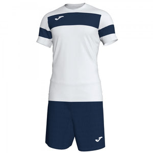 JOMA SET ACADEMY II WHITE-DARK NAVY S/S