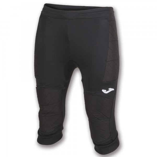 JOMA CROPPED GOALKEEPER TROUSERS THAT INCLUDE PADDING ON THE SIDES AND THE KNEES FOR BETTER PROTECTION AGAINST IMPACT.
