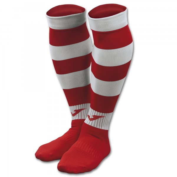 JOMA FOOTBALL SOCKS ZEBRA II RED-WHITE -PACK 4-