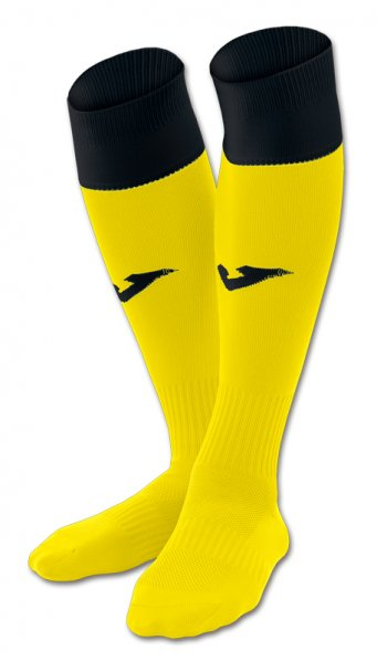 JOMA FOOTBALL SOCKS CALCIO 24 YELLOW-BLACK -PACK 4-