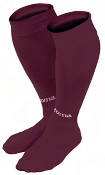 JOMA FOOTBALL SOCKS CLASSIC II WINE -PACK 4-