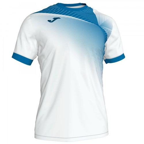 JOMA HISPA II T-SHIRT WHITE-ROYAL S/S