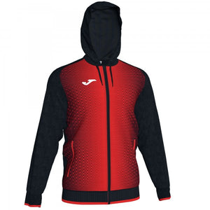 JOMA JACKET HOODED SUPERNOVA BLACK-RED