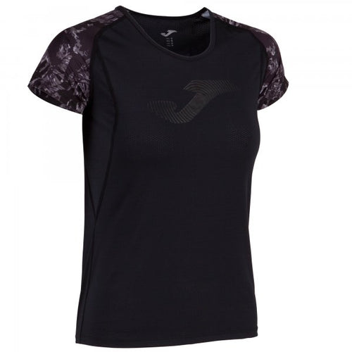 JOMA T-SHIRT PRINTED BLACK-ANTHRACITE S/S WOMAN