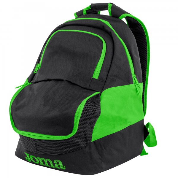 JOMA BACKPACK DIAMOND II BLACK-FLUOR GREEN