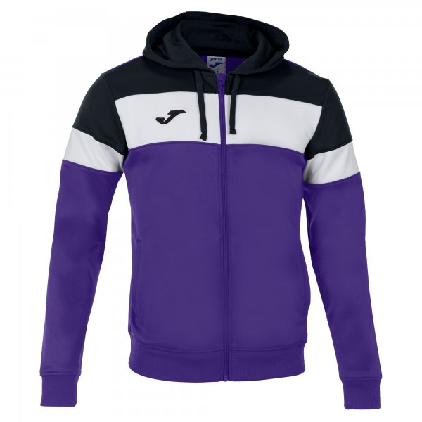 JOMA CREW IV HOODIE JACKET PURPLE-BLACK