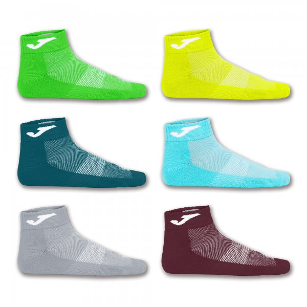 JOMA ANKLE SOCK BROW-YEL-GREE-TUR-GRE-NAV -PACK 12 PRS-