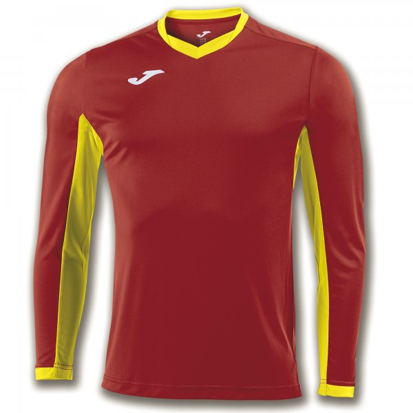 JOMA T-SHIRT CHAMPION IV RED-YELLOW L/S