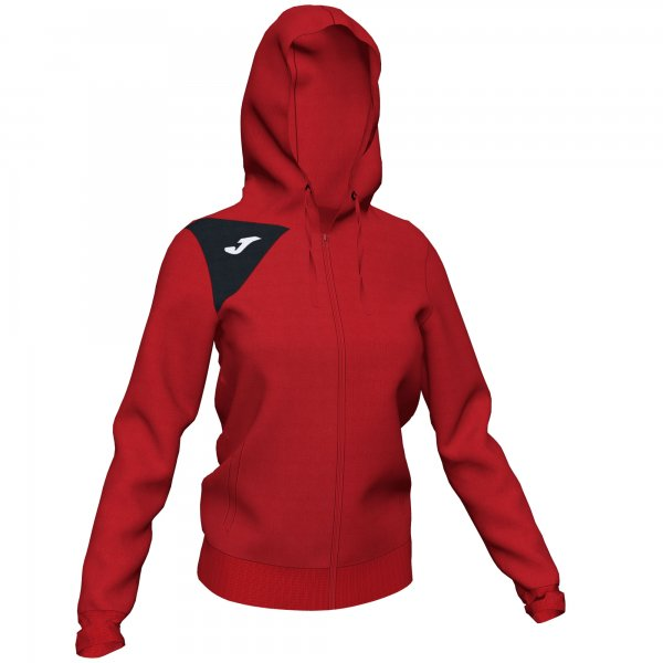 JOMA HOODED JACKET SPIKE II WOMAN RED-BLACK
