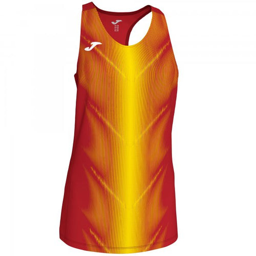 JOMA OLIMPIA T-SHIRT RED-YELLOW SLEEVELESS WOMAN