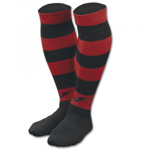 JOMA FOOTBALL SOCKS ZEBRA II BLACK-RED -PACK 4-