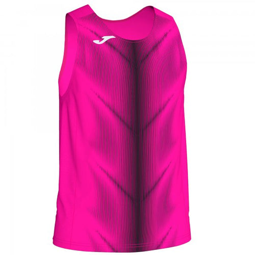 JOMA OLIMPIA T-SHIRT FLUOR PINK-BLACK SLEEVELESS