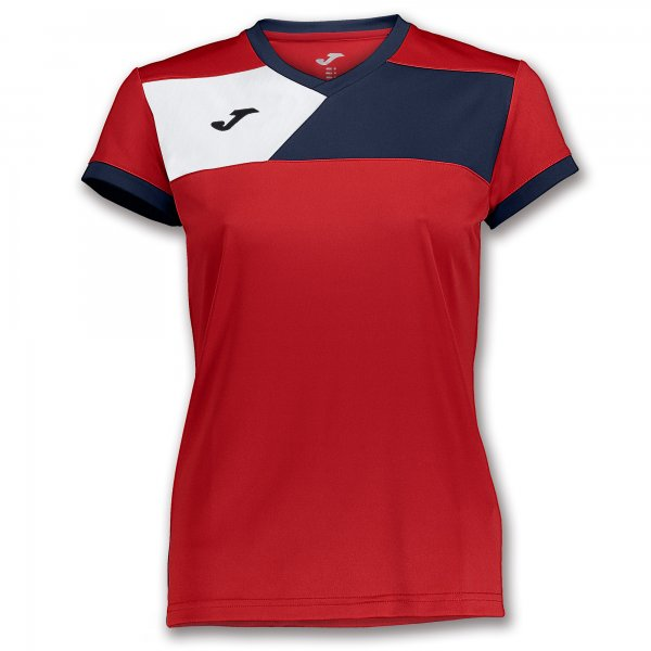 JOMA TSHIRT CREW II S/S RED-NAVY WOMAN