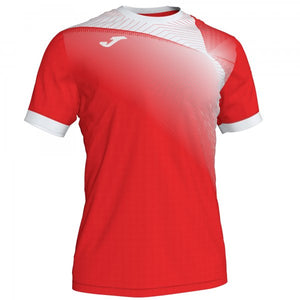 JOMA HISPA II T-SHIRT RED-WHITE S/S