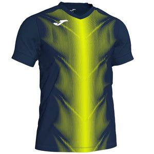 JOMA OLIMPIA T-SHIRT DARK NAVY-FLUOR YELLOW S/S