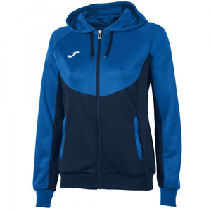 JOMA JACKET HOODIE ESSENTIAL NAVY-ROYAL WOMAN