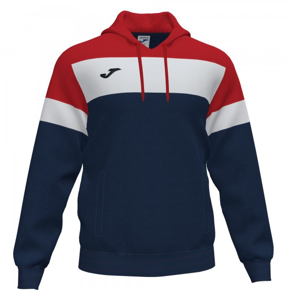 JOMA CREW IV HOODIE SWEATSHIRT DARK NAVY-RED