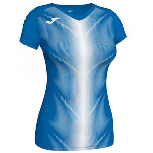 JOMA OLIMPIA T-SHIRT ROYAL-WHITE S/S WOMAN