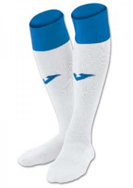 JOMA FOOTBALL SOCKS CALCIO 24 WHITE-ROYAL -PACK 4-