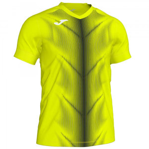 JOMA OLIMPIA T-SHIRT FLUOR YELLOW-BLACK S/S