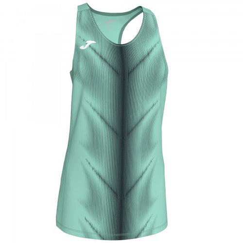 JOMA OLIMPIA T-SHIRT GREEN-BLACK SLEEVELESS WOMAN