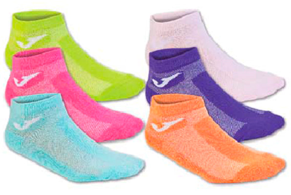 JOMA INVIS SOCKS MIX 2PINK-2GREEN-PURP-OR -PACK 12 PRS-