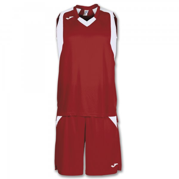JOMA SET FINAL RED-WHITE SLEEVELESS