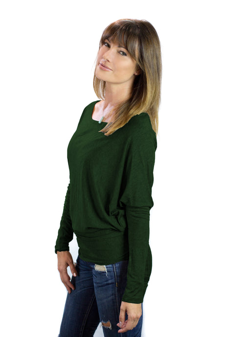 Hunter Green Nursing T-Shawl ™
