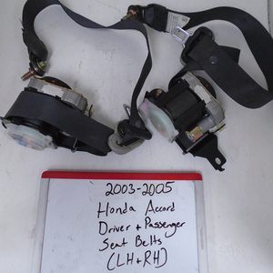 2003 - 2005 Honda Accord Driver & Passenger Seat Belts (LEFT & RIGHT) **PAIR**