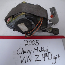 Load image into Gallery viewer, 2005 Chevy Malibu VIN Z 4th Digit Seat Belt