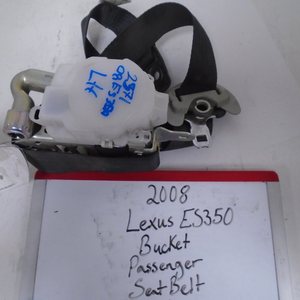 2008 Lexus ES350 Bucket Passenger Seat Belt (RIGHT)