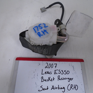 2007 Lexus ES350 Bucket Passenger Seat Belt (RIGHT)