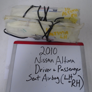 2010 Nissan Altima Driver and Passenger Seat Airbags (Set)