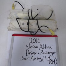 Load image into Gallery viewer, 2010 Nissan Altima Driver and Passenger Seat Airbags (LEFT and RIGHT)