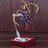 SHF Marvel Avengers Infinity War Spiderman Iron Spider & Tamashii Stage