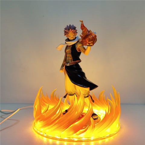 Fairy Tail Anime Figures Etherious Natsu Dragneel Night Lights LED