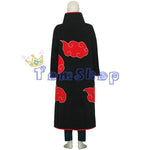 Anime Naruto Akatsuki Itachi Deluxe Cosplay Costume (Cloak+T-Shirt+Pants+Headband+Boots+Necklace+Ring)