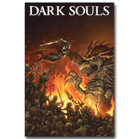 Dark Souls Art Silk Fabric Poster Print