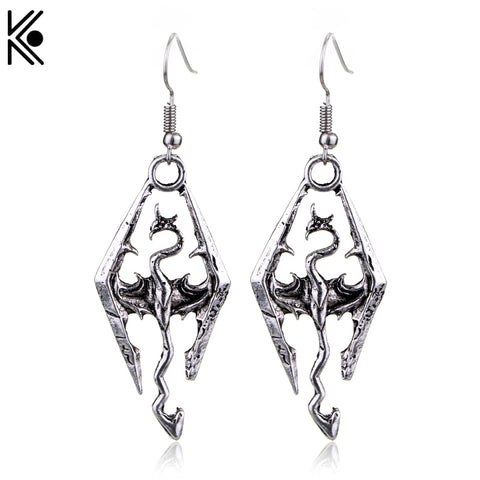 Elder Scrolls Skyrim Vintage Long Earrings