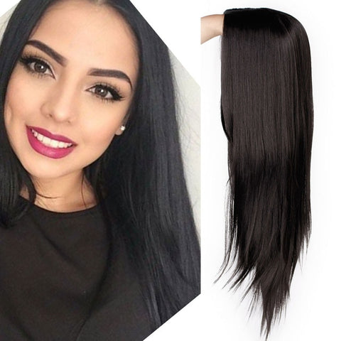Ombre Green Straight Long Synthetic Wigs For Women 24 inch 9 Color Cosplay Wigs