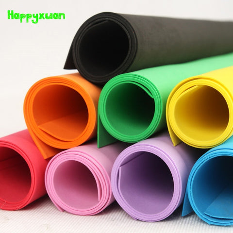 Happyxuan 5 pcs/lot 49*47cm 2mm EVA Foam Sheet Cosplay