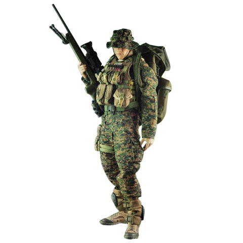 Marine Sniper Uniform and Equipment with Accessories