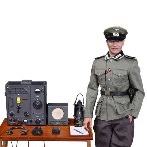 German Communications Center Radio Soldier Corporal 1/6 Scale Action Figure