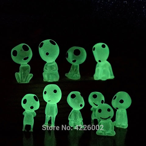Glow in the Dark Princess Mononoke Kodamas Luminous Elf Tree Figurines