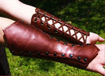 Medieval Battle Warrior Leather Armor Bracer Cosplay