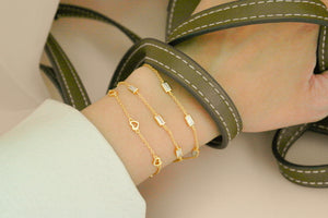 Belle Baguette Two Ways Choker Bracelet