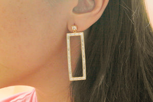 Baguette Dangling Earrings