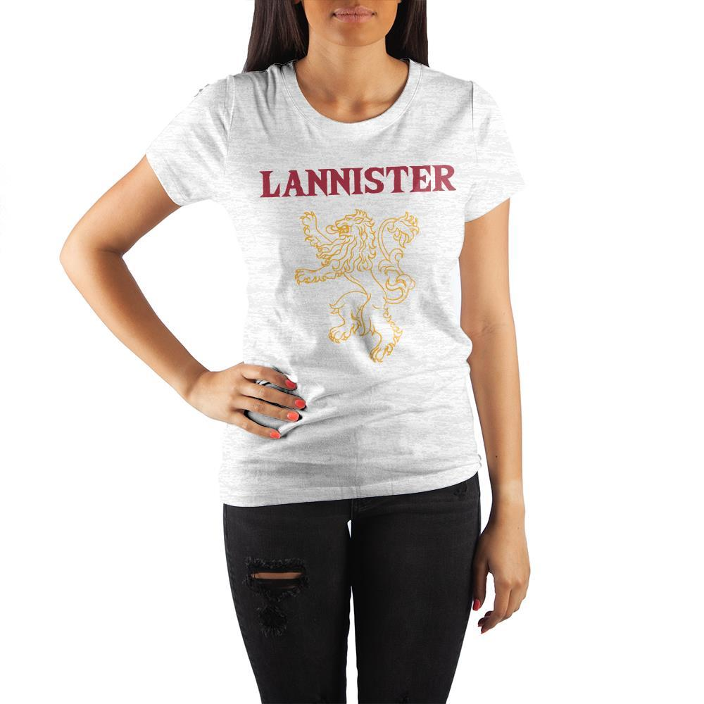 fb57cdeae Game of Thrones House Lannister Golden Lion Crew Neck Rolled Sleeve T